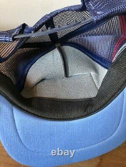 Vintage Richard Petty 3 Stripe Trucker Mesh Snapback Hat Cap Fabriqué Aux États-unis