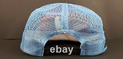 Vintage Richard Petty Stp 3 Stripe Trucker Mesh Snapback Hat Cap Made Aux États-unis