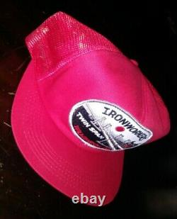 Vintage Ronworkers Patch Mesh Snapback Trucker Hat Cap K-brand USA Rare Nos