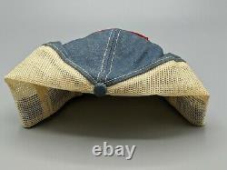 Vintage Snapback Patch Hat Snap-on Denim & Mesh Trucker Cap K-products États-unis