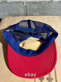 Vintage Snapback Trucker Hat / Cap Levi Strauss 1984 Jeux Olympiques USA Made Mesh
