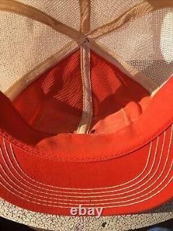 Vintage Stihl Chainsaw Patch Snapback Trucker Hat Cap 70s 80s K Brand Mesh Etats-unis