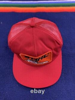 Vintage Stihl Chainsaw Snapback Mousse Trucker Hat USA Rare Rouge 80s K Marque Casquette