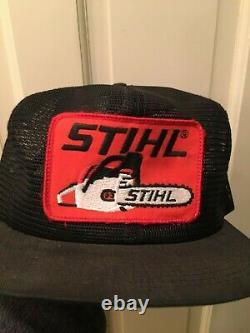Vintage Stihl Maillage Complet Patch Snapback Trucker Chapeau Made États-unis K Des Produits Agricoles