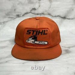 Vintage Stihl Tronçonneuse Grand Patch Snapback Trucker Hat Cap Swingster