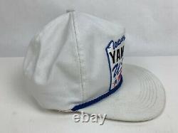 Vintage Team Yamaha USA Racing Motorcycle Trucker USA Snapback Hat Cap Blanc