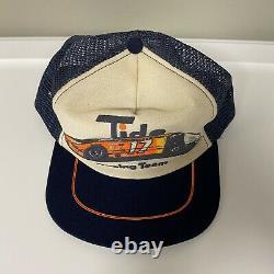 Vintage Tide Racing Team #17 Snapback Trucker Cap Hat Fabriqué Aux États-unis