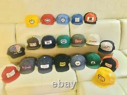 Vintage Trucker Hat Cap Lot 20 All Patch Snapback K Brand Farmer Denim Cat Etats-unis