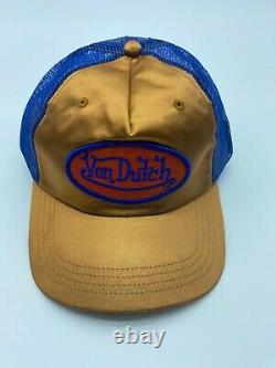 Von Dutch Original Extremely Rare Trucker Snapback Hat Logo Clear Mesh Clear Cap