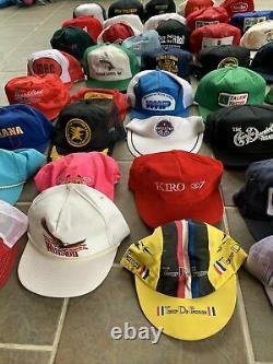 Vtg 70s 80s K Marque Louisville Patch Snapback Mesh Trucker 40 Hat Lot USA Cap
