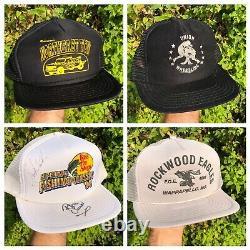 Vtg 80s 90s Trucker Hat Lot 30 Snapback Patch Mesh Local Hat Cap Publicité