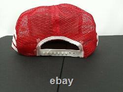 Vtg 80s Bobby Allison 3 Stripe Red Nascar Patch Snapback Camionneur Hat Cap Us Fait