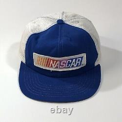 Vtg 80s Nascar Nascar Patch Snapback Mesh Hat Trucker Cap Made In USA