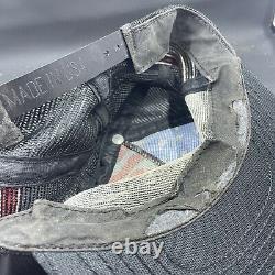 Vtg Aigle Drapeau Américain Snapback Camionneur Chapeau Chapeau 80s USA Rare