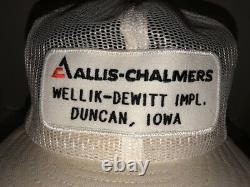 Vtg Allis Chalmers 70s 80s USA Louisville Mfg Co Mesh Chapeau De Camionneur Cap Snapback
