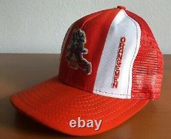 Vtg Années 1970 Syracuse Basketball Snapback Hat Cap Mesh Back Trucker Supreme 70s