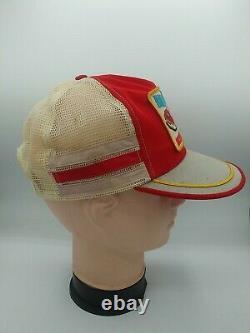 Vtg Bill Elliott 3 Stripe Patch Snapback Trucker Hat Cap USA