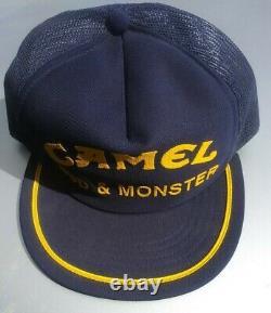 Vtg Camel Mud & Monster Pit Crew Hat Mesh Snapback Trucker Cap Made In USA