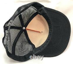 Vtg Casey Jones Village Mesh Trucker Hat Snapback Train Logo USA Cap Jackson Tn