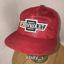 Vtg Chevrolet 70s 80s USA K-brand K-produits Tous Mesh Trucker Hat Cap Snapback