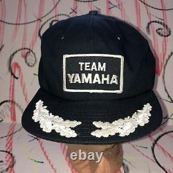 Vtg Ds 70s 80s Team Yamaha Trucker Hat Cap Snapback Motorcycle Racing Etats-unis