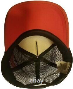 Vtg Harley Davidson 3 Trois Stripe Snapback Trucker Hat Cap Eagle Rare! Euc