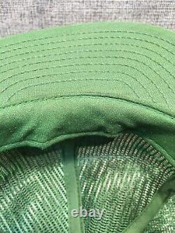 Vtg John Deere Green Louisville Mfg USA Mesh Snapback Camionneur Équipement Chapeau