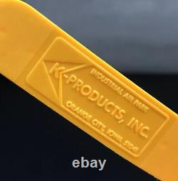 Vtg Kodak Sports Program K-products Yellow Mesh Patch Snapback Trucker Cap Hat