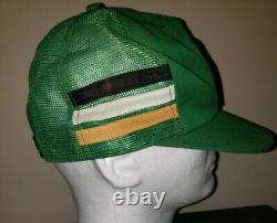 Vtg Kodiak Racing 3 Stripe Patch Snapback Trucker Hat Cap 80s K Produits Rusty