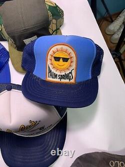 Vtg Lot (40) Trucker Casquette De Baseball Snapback Stihl Patch Deux Tons 70s 80s 90s