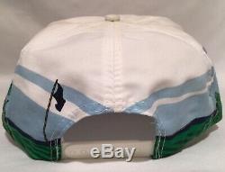 Vtg Mondes Seulement Flottant Vert Snapback Sportcap Corde Style De Camionneur Golf Chapeau