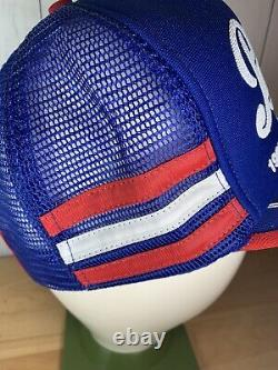 Vtg Pepsi Cola 3 Stripe Snapback Trucker Hat Cap 1988 Alaska State Fair Inutilisé