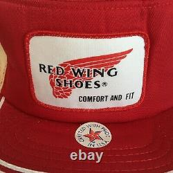 Vtg Red Wing Shoes Comfort And Fit USA Made Hat Cap Trucker Mesh Livraison Gratuite