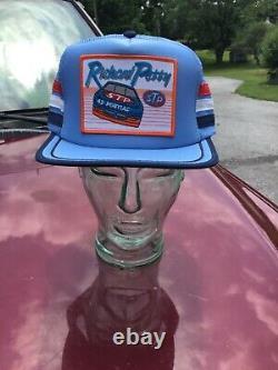Vtg Richard Petty 3 Bandes Mech Patch Snapback Camionneur Chapeau