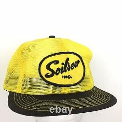 Vtg Soilserv Patch Cap K-brand Made USA Logo Mesh Snap Back Trucker Chapeau De Baseball