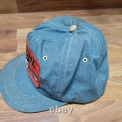 Vtg Stihl Trucker Patch Hat Cap K-brands K-produits Denim Snapback Chainsaw