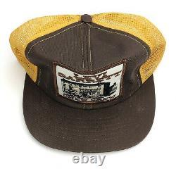 Vtg Swingster Levi Garrett Chew Crew Patch Trucker Hat Cap Mesh Snapback USA Y