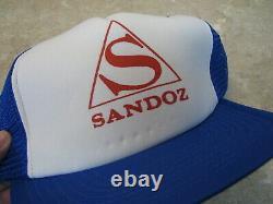 Vtg Tres Rare Sandoz Pharmaceuticals Hat / Cap Trucker / Snapback Lsd Albert Hoffman