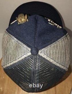Vtg USA 3 80 Marriage Side Stripes Bars Tricolore Chapeau De Camionneur Casquette Snapback Pins