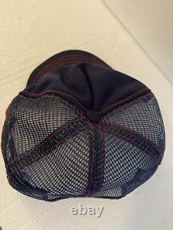 Zippo Made In USA Vintage Trucker Snapback Hat Cap Réglable Blue 3 Line Htf